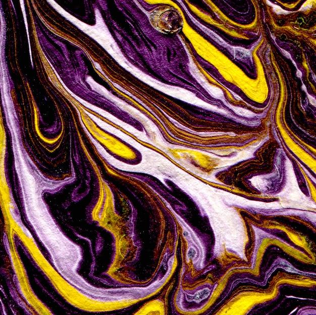 大理石の紙のテクスチャ手作りの背景。宇宙の色大理石の背景