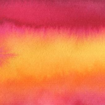 夏の背景を描いた。明るい水彩画のテクスチャ。