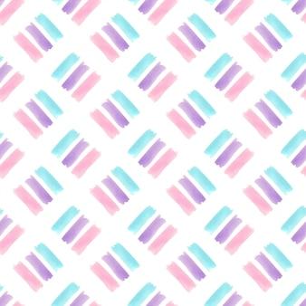 パステルストライプテクスチャと水彩のシームレスパターン。モダンなテキスタイルデザイン