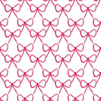 弓とのシームレスなパターン。水彩風のファッション弓