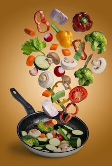 焼き野菜のフライング