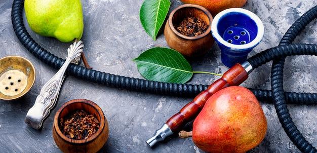 梨タバコとトルコ水ギセル