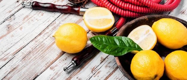 Курительный кальян с ароматом лимона