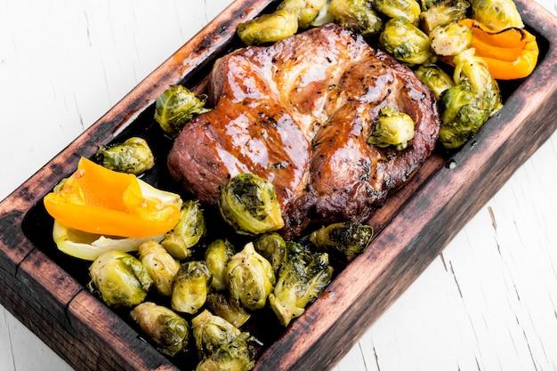 スパイスと野菜のステーキ