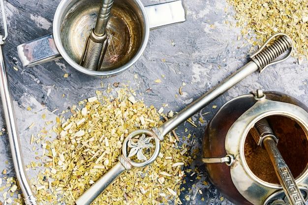 伝統的なマテ茶