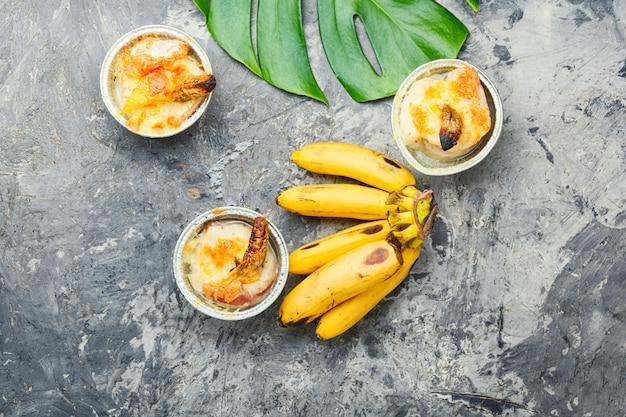 Запеченная рыба с бананом