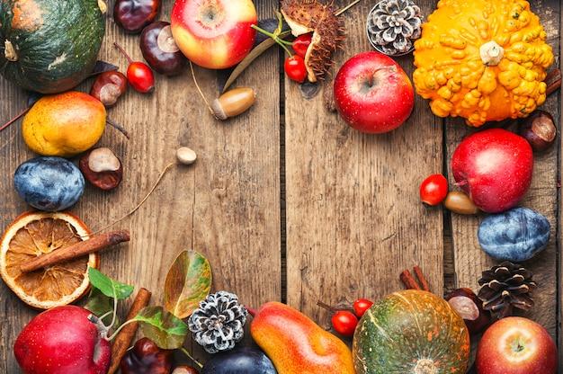 Осенний фруктовый фон