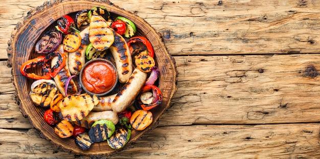 野菜とグリルソーセージ