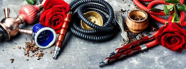 Курительный кальян с ароматом розы