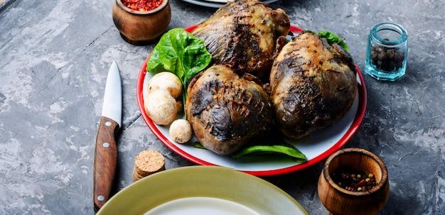 Диетическое мясо запеченное сердце