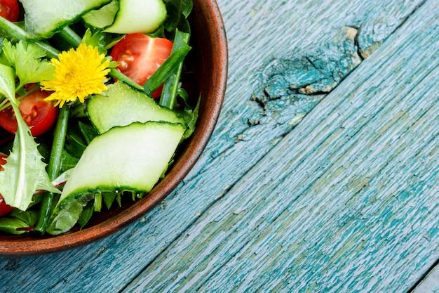 タンポポの春サラダ