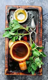 メリッサ入り天然茶
