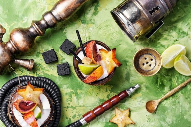 トロピカルフルーツの味と水ギセル