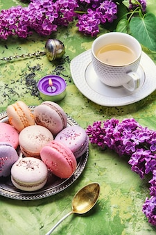 Сладкие французские миндальные печенья