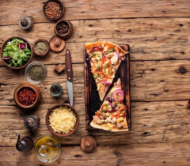 Пицца итальянская еда