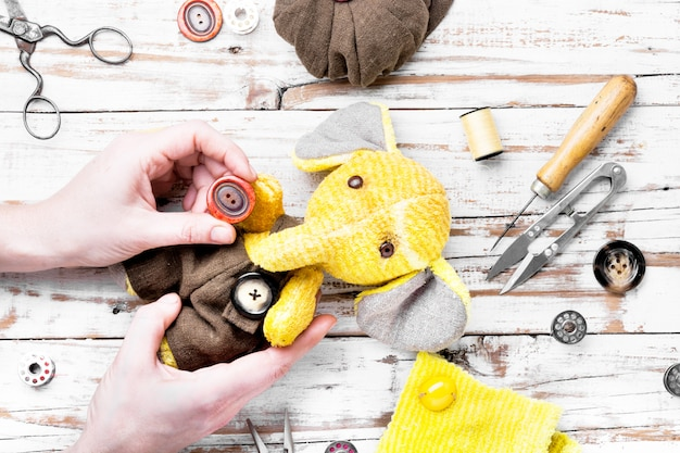 手作りのおもちゃの象