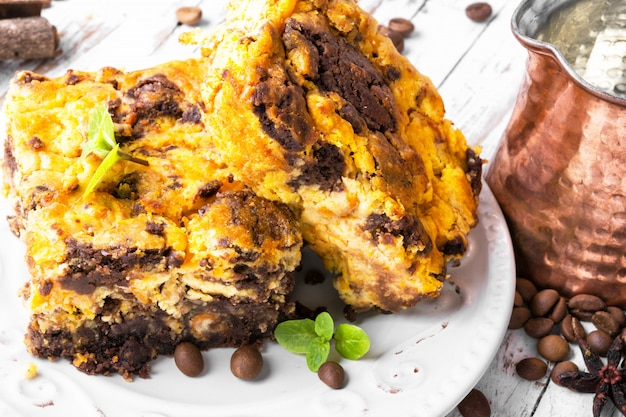 ブラウニーチョコレートケーキ