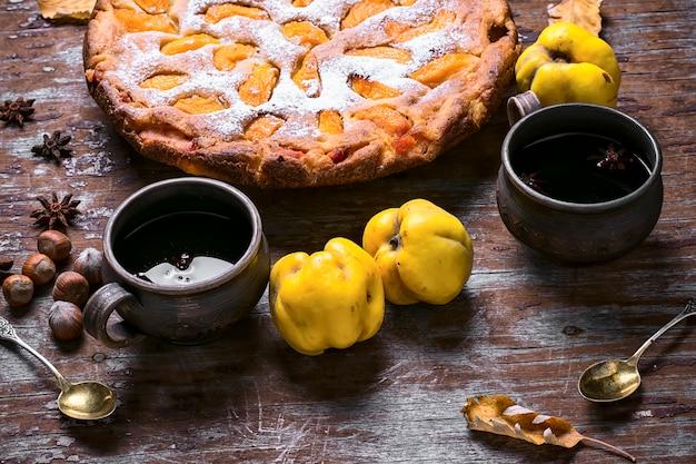 秋のマルメロとパイ