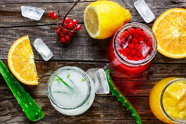Напиток с алоэ и апельсином