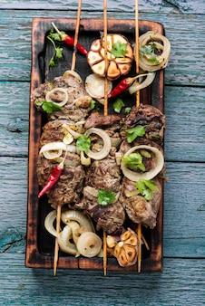 牛肉の串焼き焼き