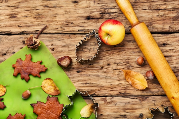 秋の象徴的なクッキー
