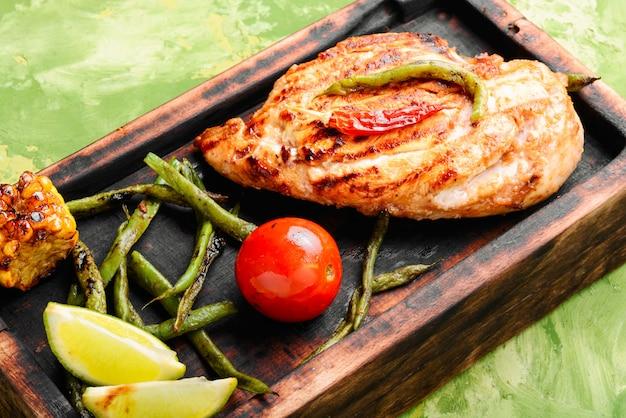 鶏胸肉のマリネ焼き