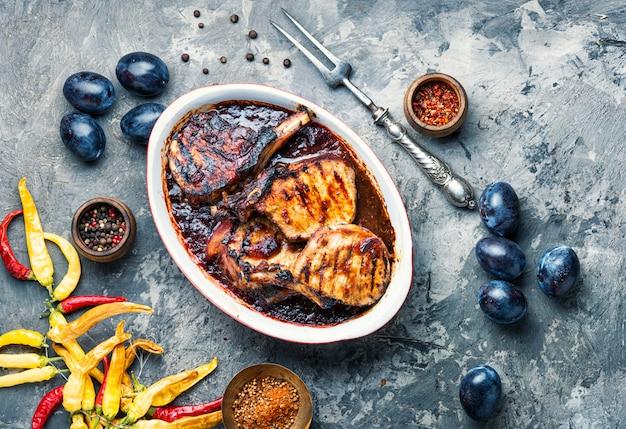 梅肉のグリル肉