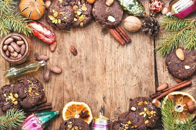 Праздничный фон печенья