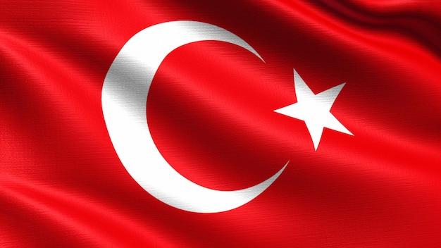 トルコの旗、手触りの生地の質感
