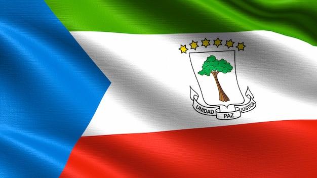 赤道ギニアの旗、手触りの生地の質感