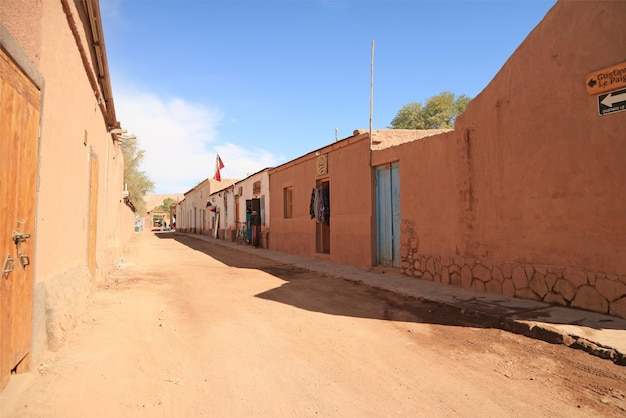 サンペドロデアタカマ、チリ北部、アタカマ砂漠の素晴らしいオアシスの町