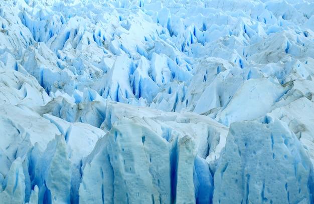 アルゼンチン、エルカラファテ、アイスブルーペリトモレノ氷河のテクスチャ
