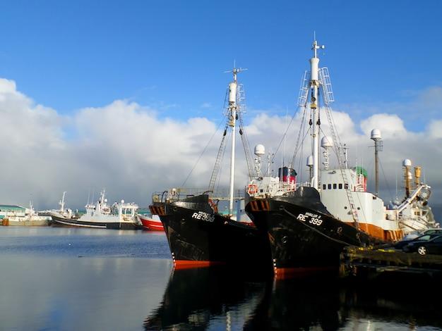 アイスランドのレイキャビクの旧港、レイキャビク