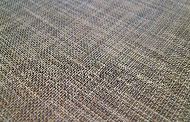 背景のランチョンマットの斜めバスケット織りパターンで引けた