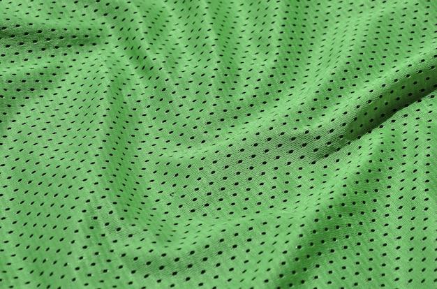 ポリエステル繊維製のスポーツウェアの質感