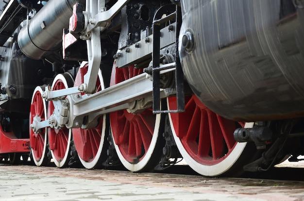 蒸気機関車の赤い輪