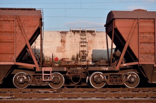 Части грузового вагона