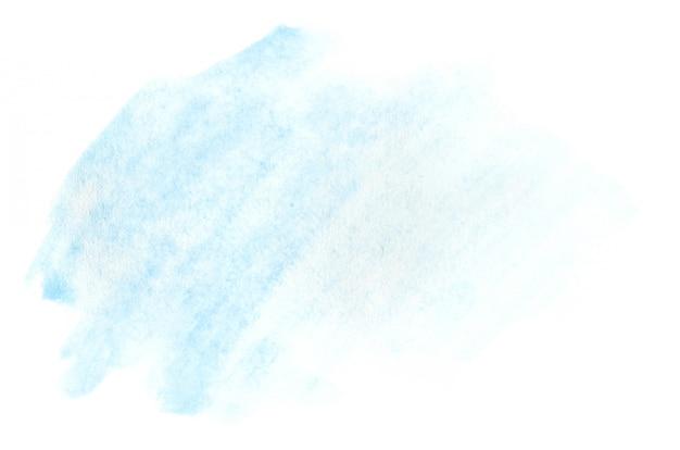 透明色を残して、ウェットカラースワイプの形の水彩イラスト