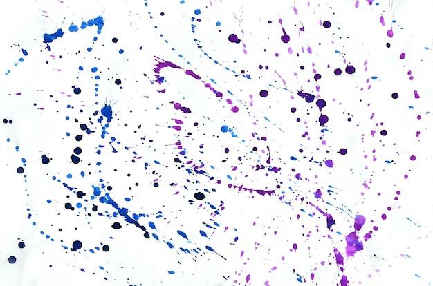 壁紙のカラフルなブルーバイオレットピンク水彩背景。アクワレル鮮やかなカラーイラスト