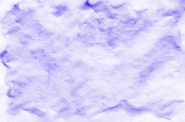 カラフルなバイオレット水彩画の濡れたブラシペイント液体の背景と名刺