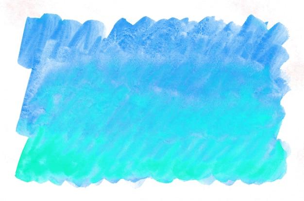カラフルなブルーグリーンターコイズ水彩画