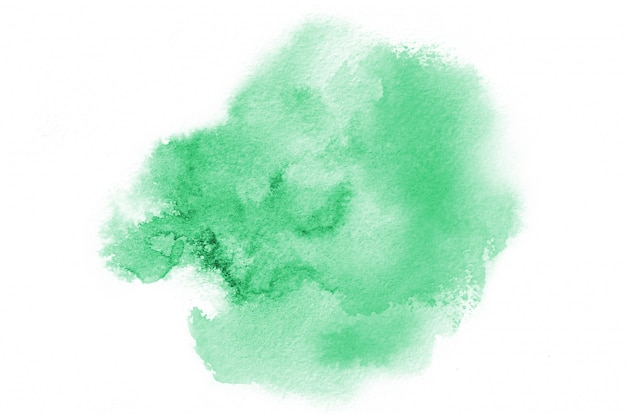 手描き緑の水彩画の形
