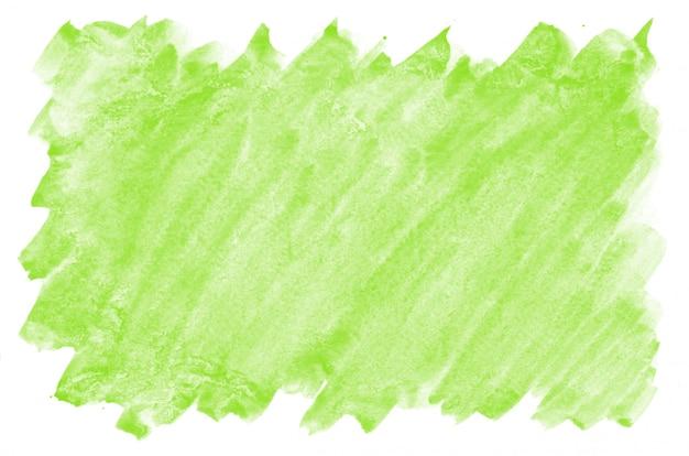 ライトグリーンの水彩画