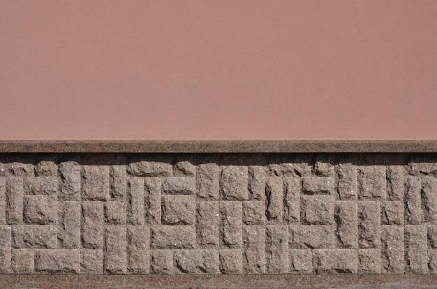 Горизонтальная фактура грубого и прочного мозаичного гранитного каменного основания