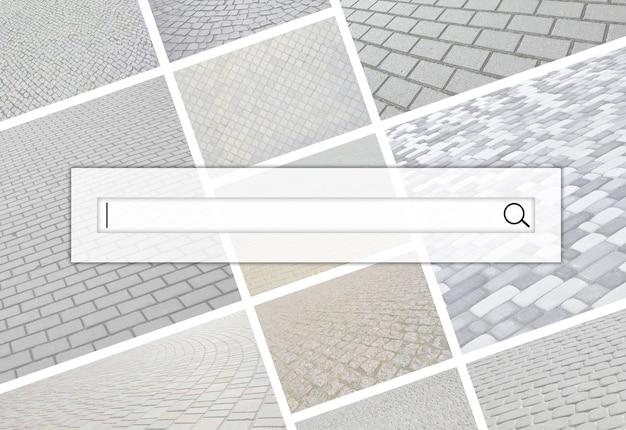 Визуализация панели поиска