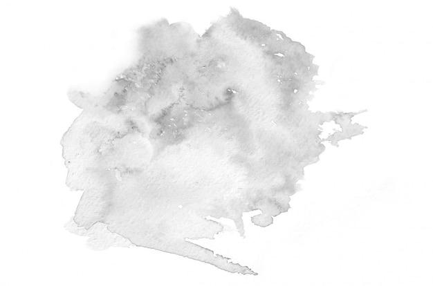 手描きの黒と白の水彩画の形