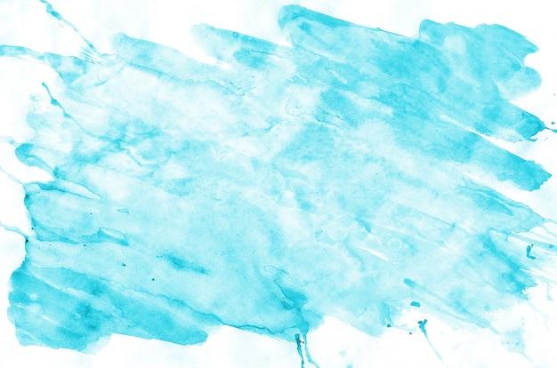 カラフルなブルー水彩ウェットブラシペイント液