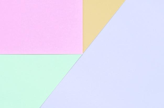 Текстура фона моды пастельных цветов, розовый, фиолетовый, оранжевый и синий геометрические узоры бумаги,