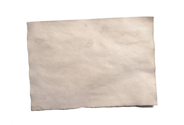 アンティークヴィンテージ崩壊紙原稿または羊皮紙の古い空白部分