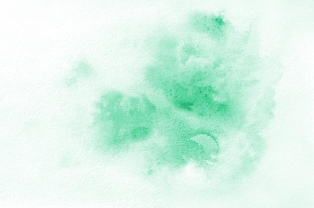 手描き緑水彩図形。創造的な塗装、手作りの装飾